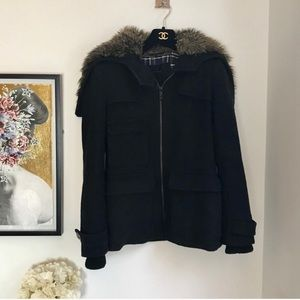 Aritzia Community black recycled wool jacket XXS